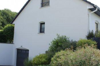 ravalement façade archettes blanc enduit