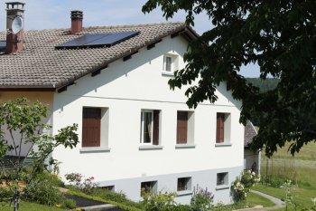 isolation façade enduit blanc gris archettes