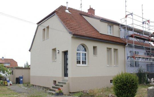 isolation façade enduit beige