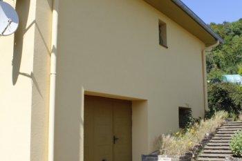 isolation façade enduit jaune certilleux
