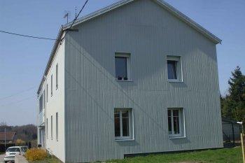 Bové Bardage enduit Xertigny gris clair gris foncé