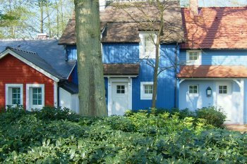Bové Bardage bleu marron center parc hattigny