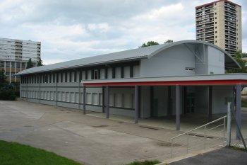 Bové Bardage collège Diderot Besançon Gris clair gris foncé