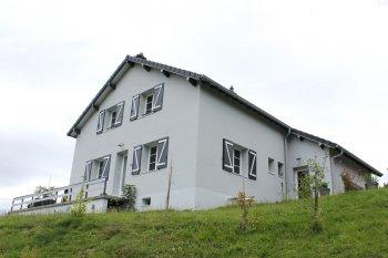 isolation façade enduit blanc gris gerardmer
