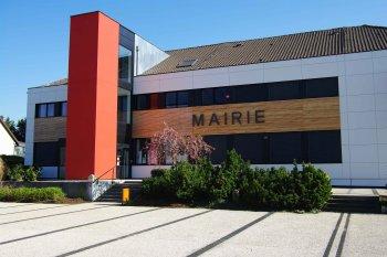 Bové bardage enduit Staffelfelden mairie blanc noir rouge marron