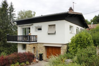 Ravalement Saint-Die-Des-Vosges isolation bardage enduit blanc marron