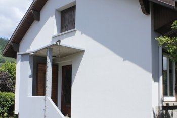 Ravalement Saint Etienne les Remiremont enduit isolation bardage blanc marron