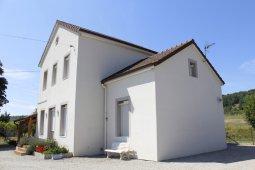 isolation façade enduit blanc aulnois