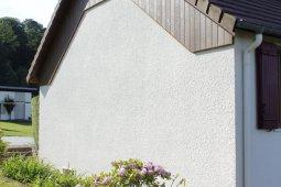 ravalement façade arches blanc enduit bardage