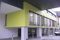 Bové Bardage Mulhouse vert gris foncé marron blanc