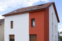 Ravalement Saint Etienne les Remiremont enduit isolation rouge blanc