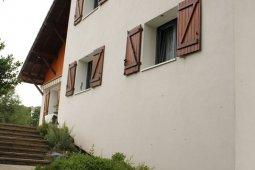 Ravalement Saint-Nabord isolation enduit orange blanc